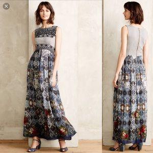 Hemant & Nandita Frost Cover Blue Maxi Dress